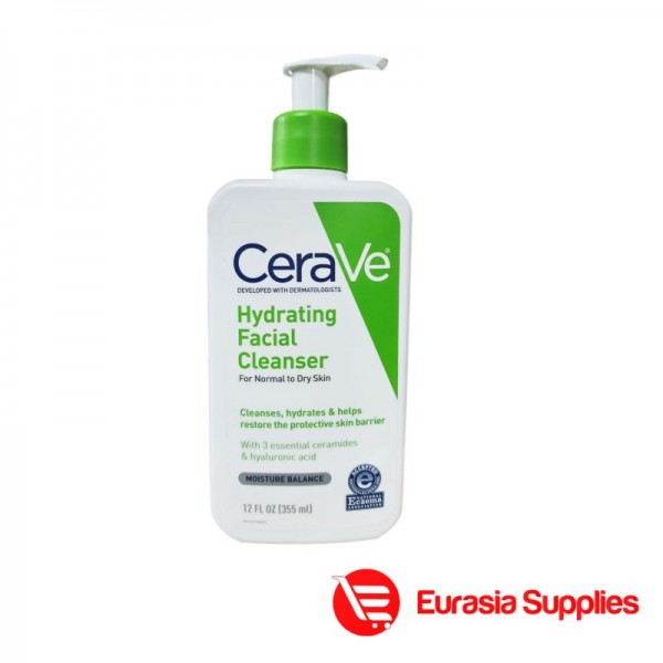 Cerave  Hydrating Facial Cleanser For Normal To Dry Skin 355ml
