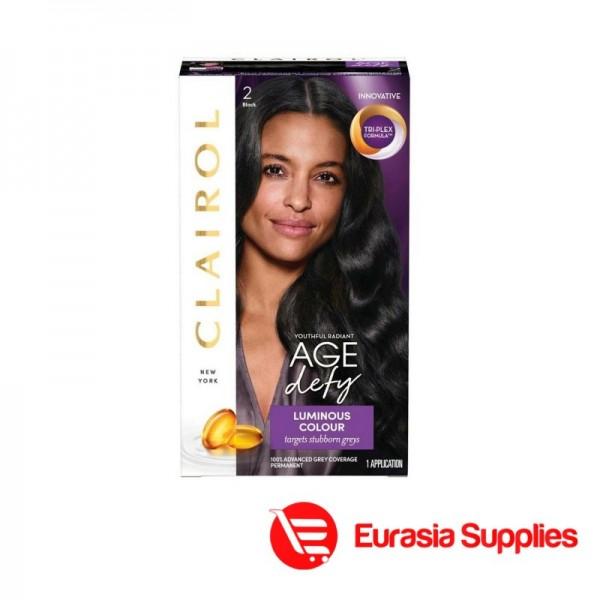 Clairol Age Defy Permanent Hair Dye 2 Black