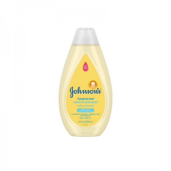 Johnsons Head-To-Toe Baby Wash & Shampoo 500ml