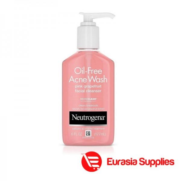 Neutrogena Oil-Free Pink Grapefruit Pore Cleansing Salicylic Acid Acne Wash - 177ml