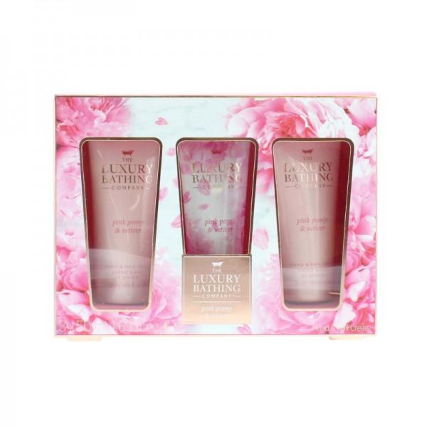 The Luxury Bathing Company Pink Peony & Vetiver 3pcs Gift Set